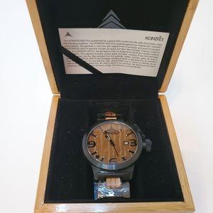 New Karbon Black Matte Stainless + Zebra watch